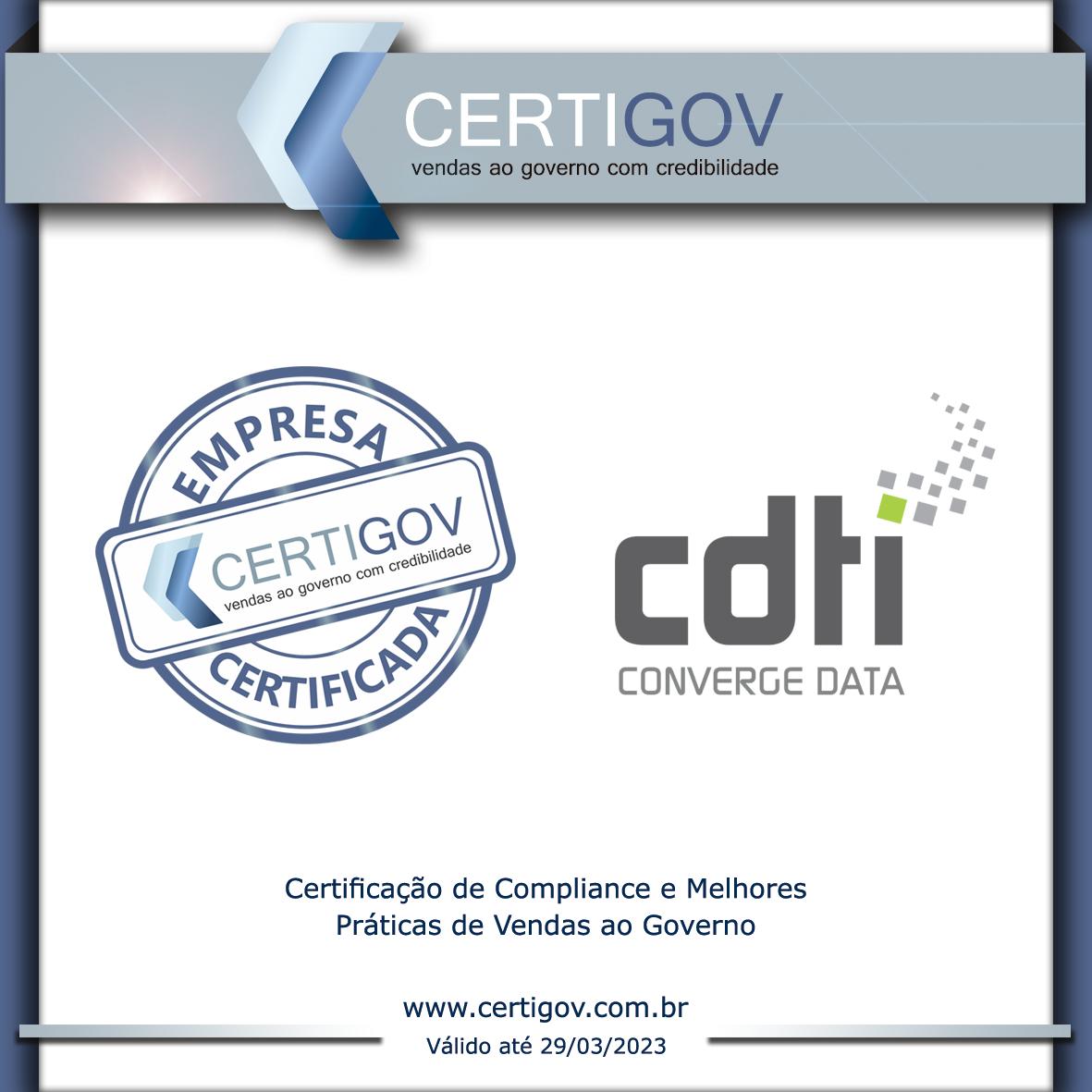 A CDTI conquista a certificação CERTIGOV